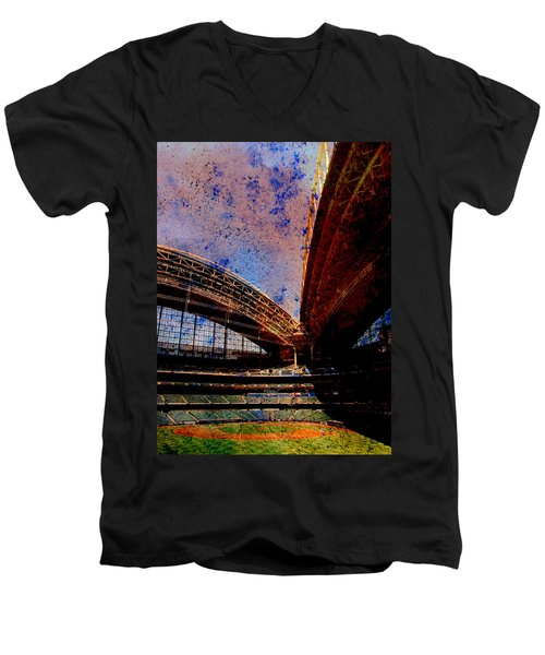 Miller Park 2 W Paint Men's V-Neck T-Shirt