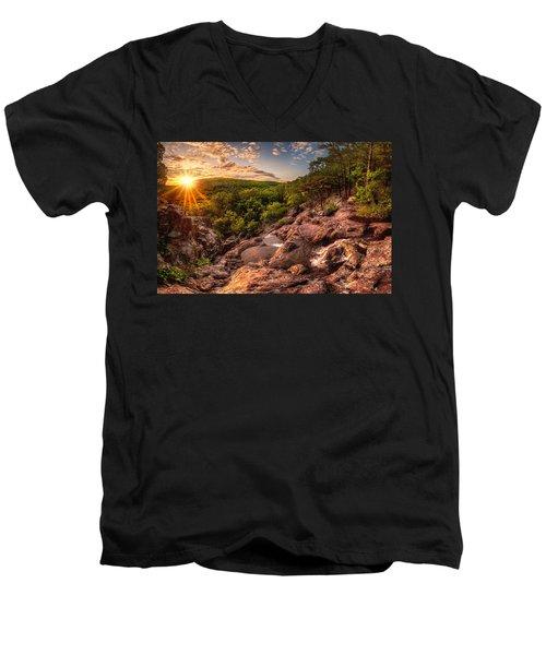 Mina Sauk Falls Men's V-Neck T-Shirt
