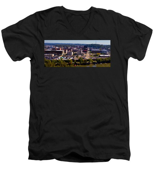 Mini Downtown Parkersburg Men's V-Neck T-Shirt