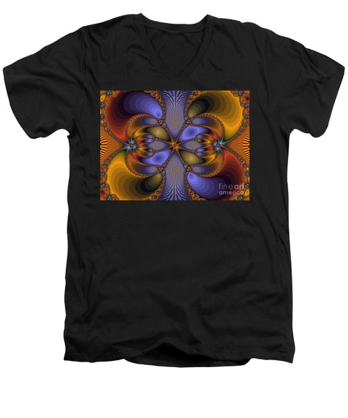 Mirror Butterfly Men's V-Neck T-Shirt