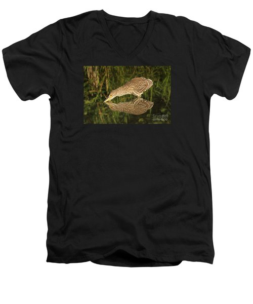 Mirror Mirror On The Wall Who Is The Fairest Heron Of All Men's V-Neck T-Shirt by Heather King