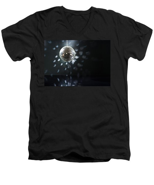 Mirrorball Men's V-Neck T-Shirt by Ulrich Schade