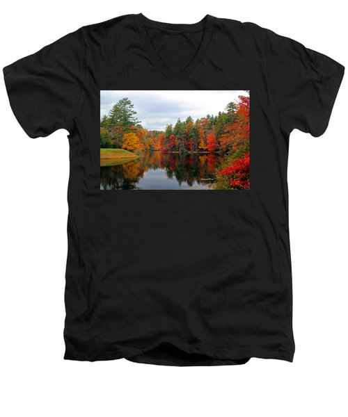 Mirrored Lake Men's V-Neck T-Shirt