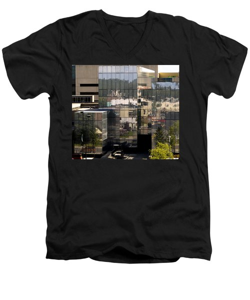 Mirroring  Men's V-Neck T-Shirt