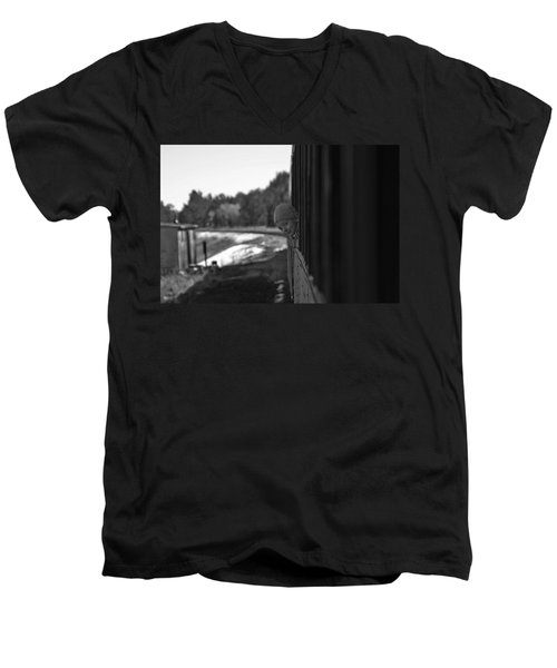Men's V-Neck T-Shirt featuring the photograph Mischief by Jeremy Rhoades