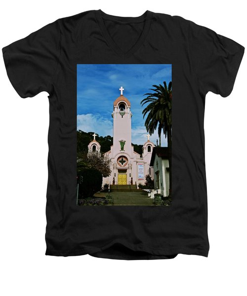 Mission San Rafael Men's V-Neck T-Shirt
