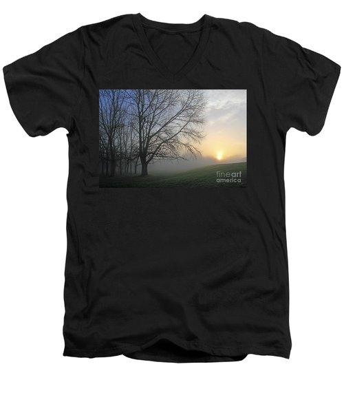 Misty Dawn Men's V-Neck T-Shirt