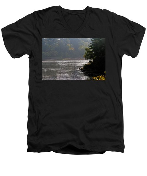 Misty Morning Men's V-Neck T-Shirt by Kay Novy
