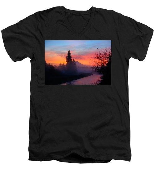 Misty Mountain Morning Men's V-Neck T-Shirt