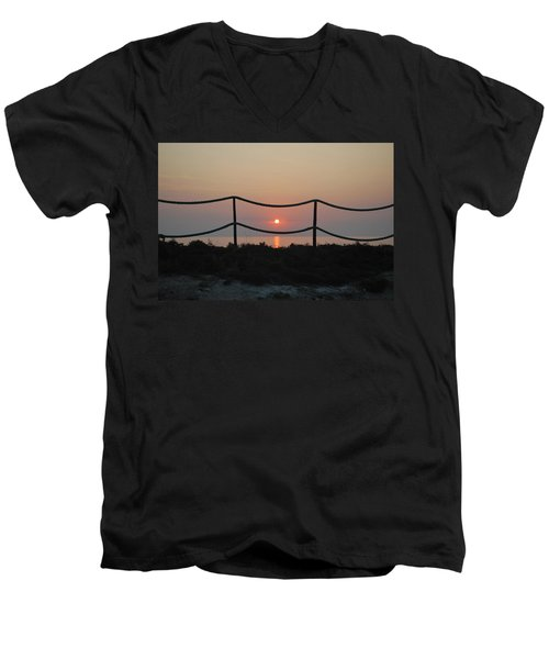 Misty Sunset 1 Men's V-Neck T-Shirt