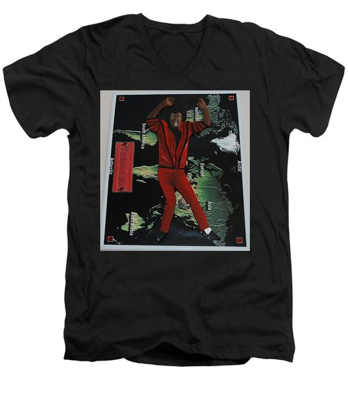 Mj Thriller Men's V-Neck T-Shirt