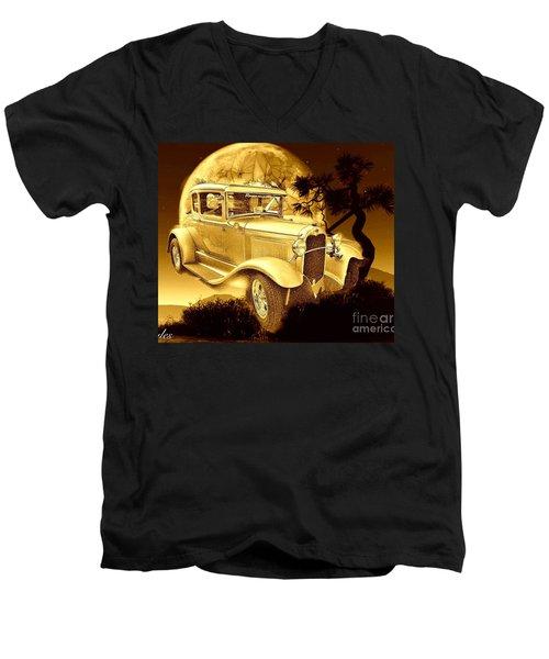 Model T Fantasy  Men's V-Neck T-Shirt by Saundra Myles