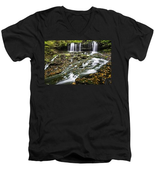 Mohawk Falls 1 Men's V-Neck T-Shirt