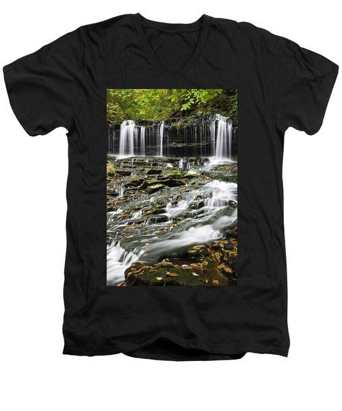 Mohawk Falls 2 Men's V-Neck T-Shirt