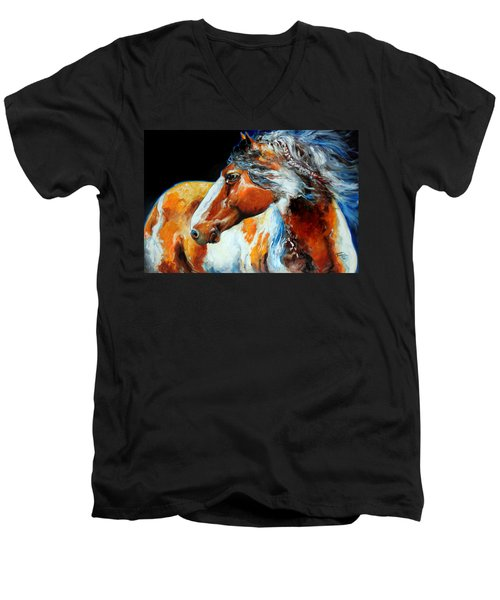 Mohican The Indian War Pony Men's V-Neck T-Shirt