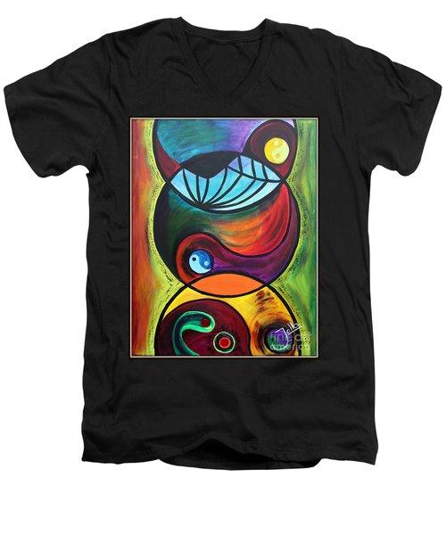 Molecules Of Emotion Men's V-Neck T-Shirt
