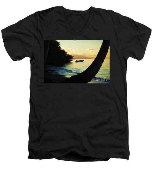 Molokai Beach Men's V-Neck T-Shirt