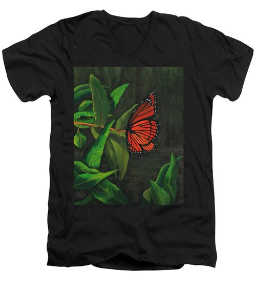 Viceroy Butterfly Oil Painting Men's V-Neck T-Shirt