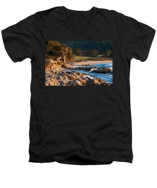 Monastery Beach In Carmel California Men's V-Neck T-Shirt