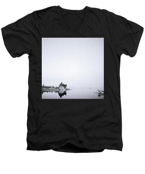 Still Waters Run Deep Men's V-Neck T-Shirt by Shaun Higson