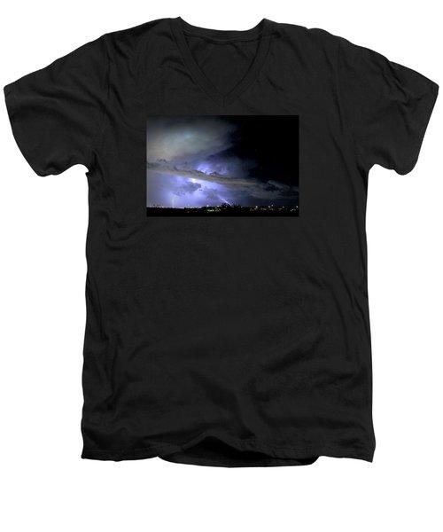 Monsoon Lightning Men's V-Neck T-Shirt