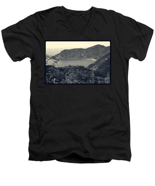 Monterosso Al Mare From Above Men's V-Neck T-Shirt