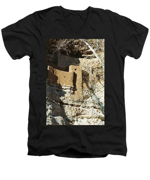 Men's V-Neck T-Shirt featuring the photograph Montezuma's Castle by Kerri Mortenson