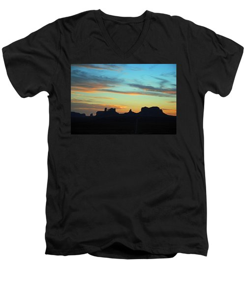Monument Valley Sunset 4  Men's V-Neck T-Shirt