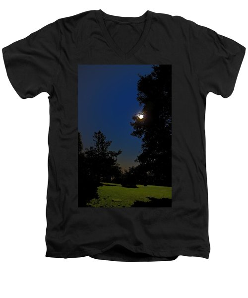 Men's V-Neck T-Shirt featuring the photograph Moon And Pegasus by Greg Reed