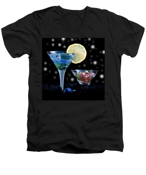 Moon Light Cocktail Lemon Flavour With Stars 1 Men's V-Neck T-Shirt by Pedro Cardona