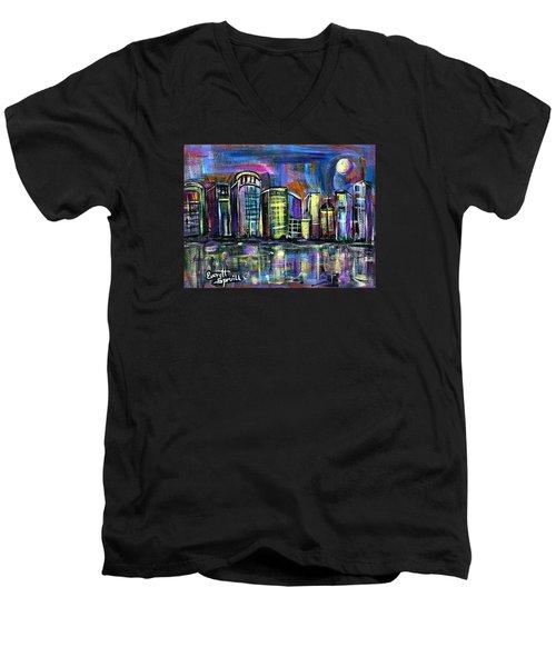 Moon Over Orlando Men's V-Neck T-Shirt