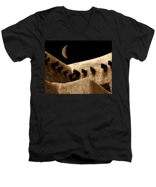 Moon Over Santa Fe Men's V-Neck T-Shirt