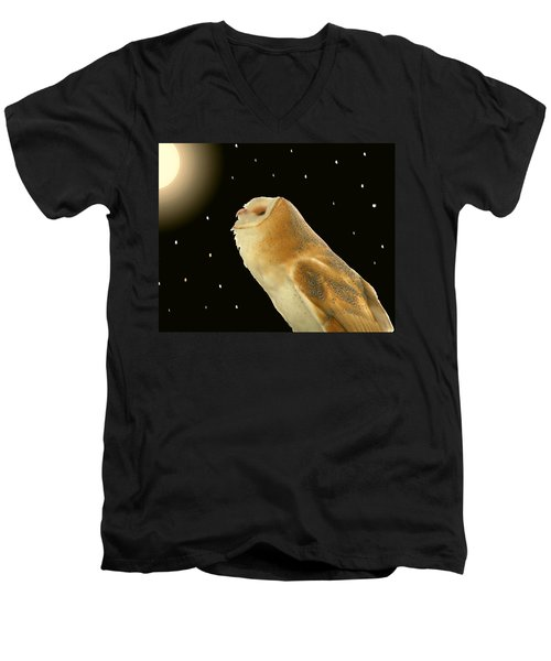 Moon Owl Men's V-Neck T-Shirt
