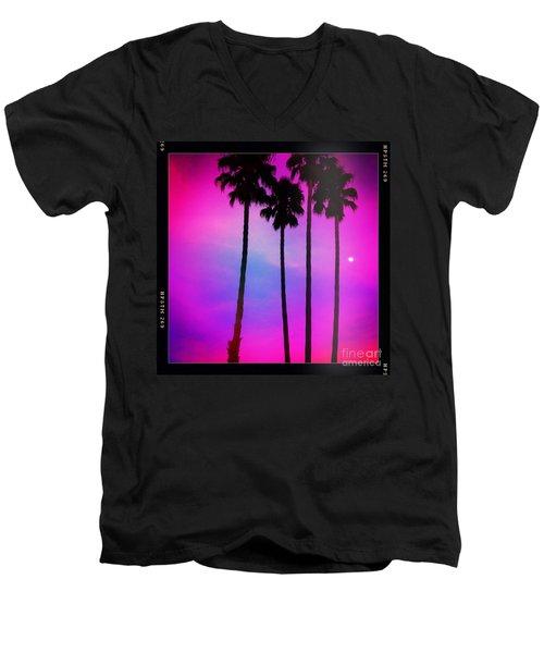 Moon Palms Men's V-Neck T-Shirt