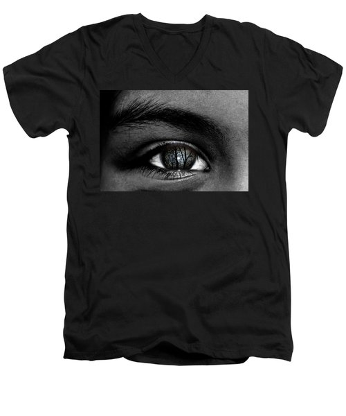 Moonlight In Your Eyes Men's V-Neck T-Shirt