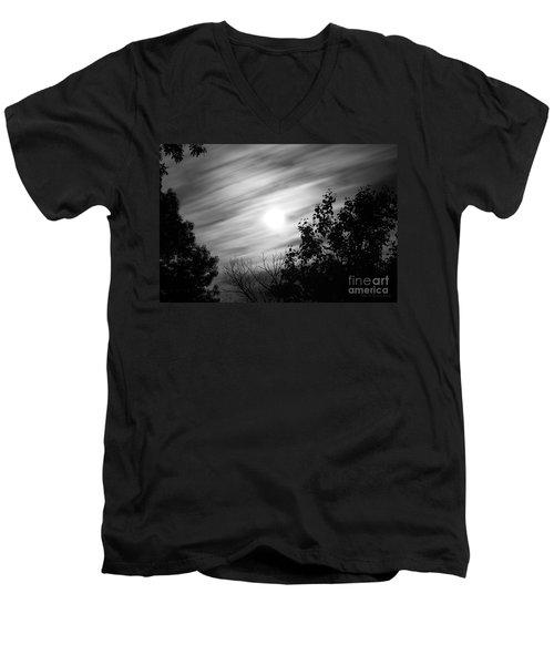 Moonlit Clouds Men's V-Neck T-Shirt