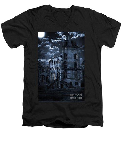 Moonlit Fonthill Men's V-Neck T-Shirt
