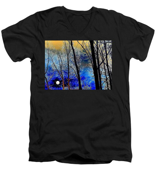 Moonlit Frosty Limbs Men's V-Neck T-Shirt