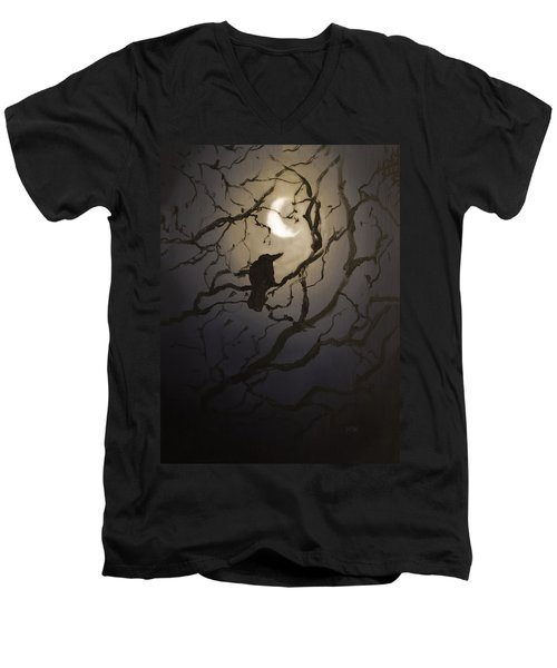 Moonlit Perch Men's V-Neck T-Shirt