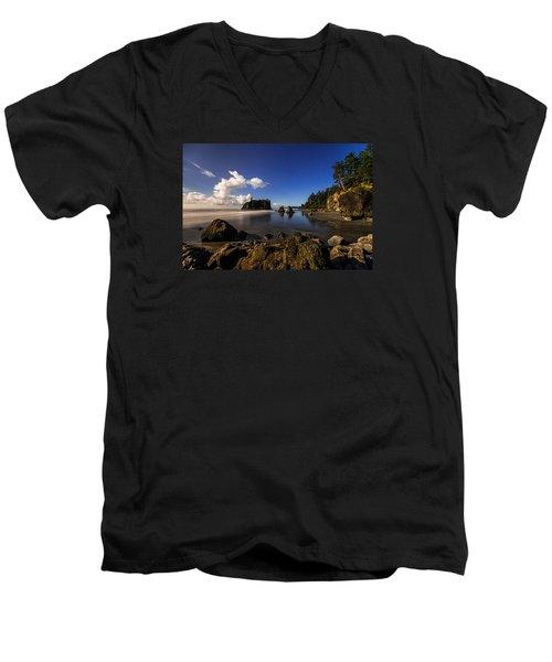 Moonlit Ruby Men's V-Neck T-Shirt