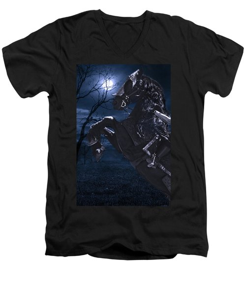 Moonlit Warrior Men's V-Neck T-Shirt
