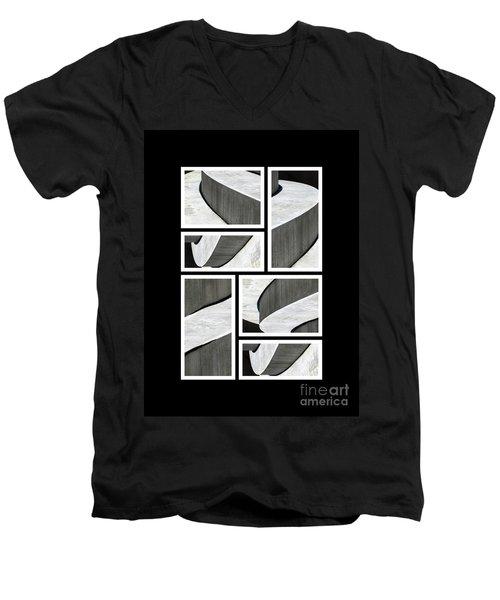 Moonscapes. Abstract Photo Collage 01 Men's V-Neck T-Shirt by Ausra Huntington nee Paulauskaite