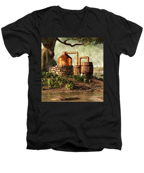 Moonshine Still 1 Men's V-Neck T-Shirt