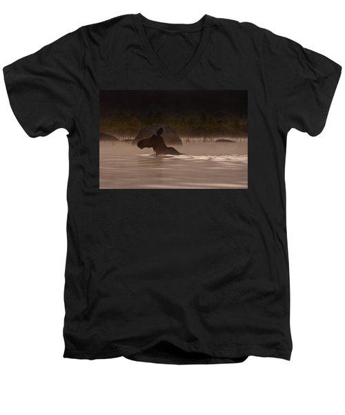 Moose Swim Men's V-Neck T-Shirt