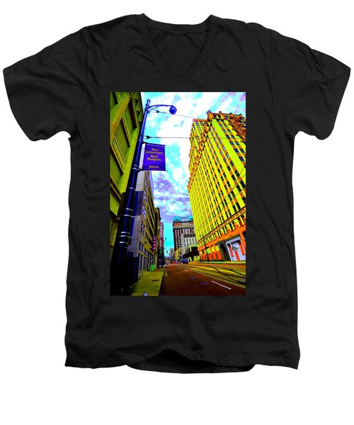 More Memphis On Monroe Men's V-Neck T-Shirt