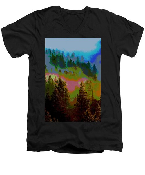 Morning Arrives In The Pacific Northwest Men's V-Neck T-Shirt
