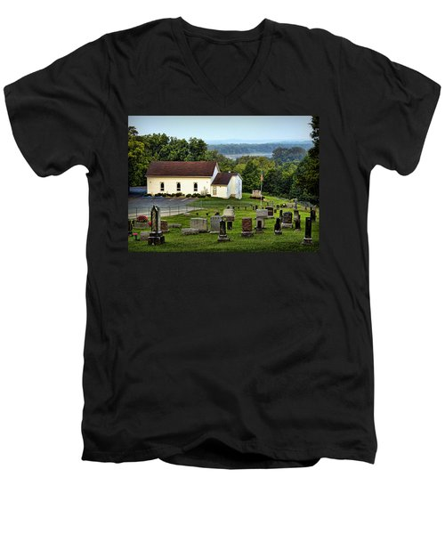 Morning At Goshen Men's V-Neck T-Shirt