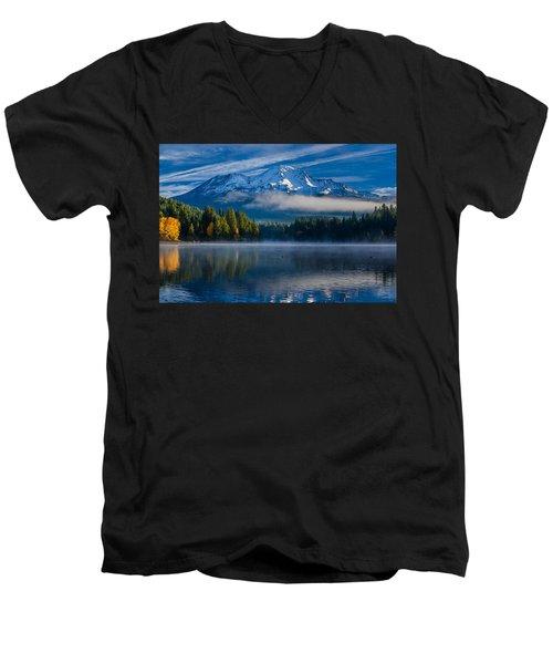Morning At Siskiyou Lake Men's V-Neck T-Shirt