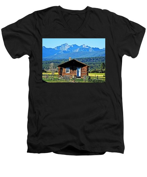 Men's V-Neck T-Shirt featuring the photograph Morning At The Getaway by Joseph J Stevens