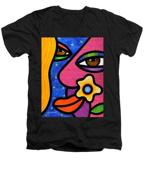Morning Gloria Men's V-Neck T-Shirt